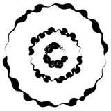 Concentrische cirkels, ringen met misvorming Geometrisch cirkele royalty-vrije illustratie