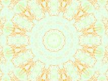Concentrische oranje beige lichtgroen van het cirkelornament Royalty-vrije Stock Foto's