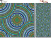 Concentrische ringen abstracte achtergrond Geproduceerde computer stock illustratie