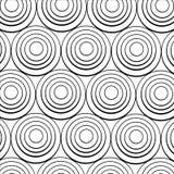 Concentrische zwarte ringen royalty-vrije illustratie