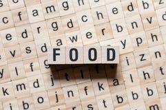 Conceot di parola dell'alimento fotografia stock