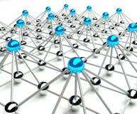 Concepção abstrata de uma comunicação e da hierarquia Imagem de Stock Royalty Free