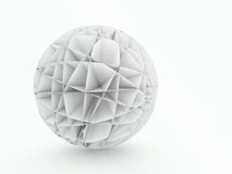 Concepção arquitetónica abstrata da esfera 3D Imagens de Stock