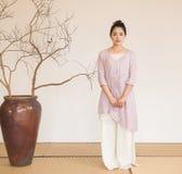 Concepção artística de Zen Meditation-The do chá do zen foto de stock