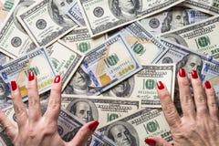 Concepção da riqueza e dos ricos foto de stock