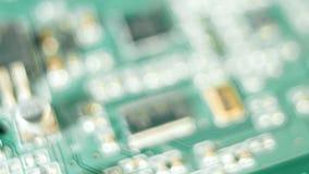 Concepção da tecnologia da placa de circuito do computador video estoque