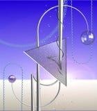 Concepção do projeto para a página de internet industrial Imagens de Stock