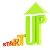 Concepção Startup do risco: emlem crescente isolado Foto de Stock Royalty Free