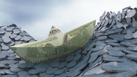 concep投资货币 免版税图库摄影