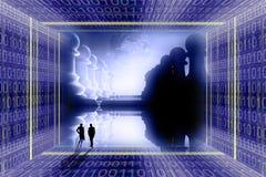 concep数字式行业战争 库存例证