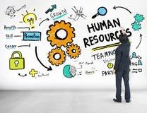 人力资源就业工作配合商人想法Concep 库存图片