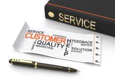 Concep de service client illustration stock