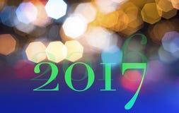 Concep 2017 del fondo del nuovo anno Immagini Stock Libere da Diritti