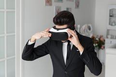 concep di tecnologia di visione 3d, vetri virtuali Fotografie Stock Libere da Diritti