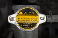 Concep do radiador da tomada da água do anticongelante da tampa do líquido refrigerante do automóvel do carro Imagens de Stock