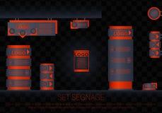 Concep extérieur et intérieur de signage Illustration de Vecteur