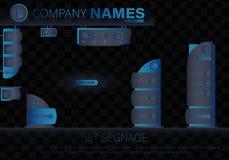 Concep extérieur et intérieur de signage Illustration Stock