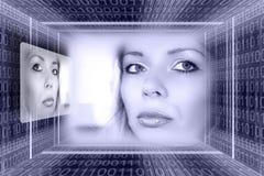Concep futurista de las tecnologías imagen de archivo