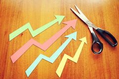 Concep of indices growth Stock Photos