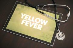 Concep médico do diagnóstico da febre amarela (doença gastrintestinal) Fotografia de Stock Royalty Free