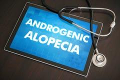 Concep medico di diagnosi androgena di alopecia (malattia cutanea) Fotografia Stock