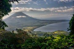 concepcion ・尼加拉瓜火山 免版税库存图片