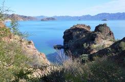 Concepcion fjärd, Baja California, Mexico Arkivbilder