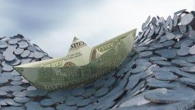concepinvesteringpengar Royaltyfri Fotografi