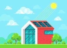 Concept à énergie solaire d'idée Images libres de droits