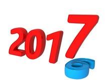 concept 2016 à 2017 de transition Photographie stock libre de droits