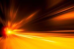 Concept à grande vitesse d'affaires et de technologie, tache floue de mouvement rapide superbe d'entraînement de voiture rapide d Images stock