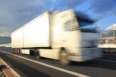 Concept à grande vitesse de transport de camion image libre de droits