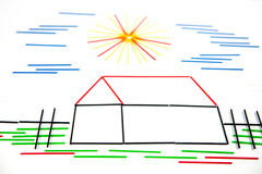 Concept à la maison Photo libre de droits