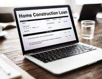 Concept à la maison de forme de document de prêt de construction photos libres de droits
