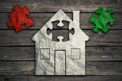 Concept à la maison de réparation Industrie de bâtiment d'immobiliers Images stock