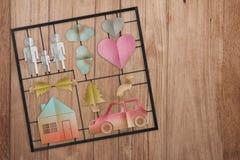 Concept à la maison doux à la maison réglé de modèle de famille Photo libre de droits