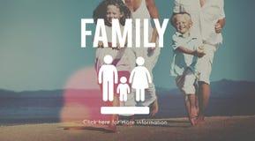 Concept à la maison relatif d'amour de généalogie de soin de famille Image libre de droits