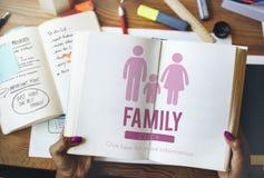 Concept à la maison relatif d'amour de généalogie de soin de famille Images stock
