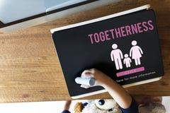 Concept à la maison relatif d'amour de généalogie de soin de famille Photo stock
