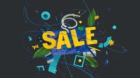 Concept à la mode de vente illustration stock