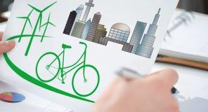 Concept écologique sur un papier photos stock