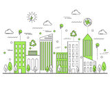 Concept écologique vert de ville illustration libre de droits