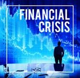 Concept économique de dépression de problème de crise financière Images stock