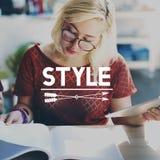 Concept élégant de hippie de tendances chics de caractère de classe de style photo stock