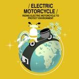 Concept électrique de moto illustration stock