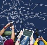 Concept électronique d'informatique de données numériques Image stock