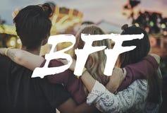 Concept élevé de but de contemplation de Bff Photographie stock