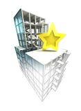 Concept évalué supérieur du finissage architectural de plan de bâtiment Images stock