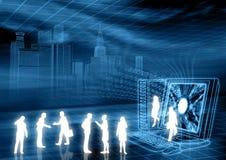 Concept 2 van het e-business Stock Afbeelding