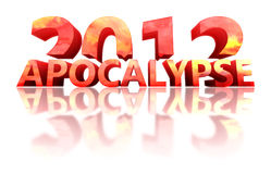 Concept of 2012 year with reflection Royalty Free Stock Image
